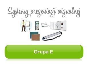Grupa E - systemy prezentacji wizualnej, organizacji pracy i produkty konferencyjne