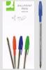 Długopis klasyczny z wymiennym wkładem 0,7mm,Q-Connect