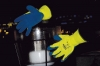 Rękawice ciepłochr. Bluetail, montażowe, akryl+lateks, żółto-nie